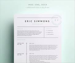 Beautiful Indesign Resume Template Free Download Best Of Template
