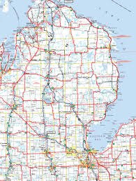 map michigan cities and of  roundtripticketme