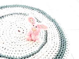 round pink rug. Round Nursery Rug Rugs Girl Baby Regular And Crochet Pink For .