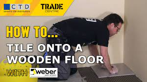 how to tile onto a wooden floor you