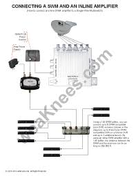 directv swm swm single wire multiswitch amps parts for swm wiring diagram inline amplifier