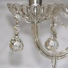 2 of 3 10 pk chandelier replacement crystal prisms clear faceted ball