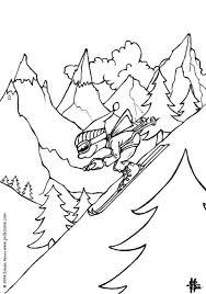 Kleurplaat Winter Ski Afb 6466