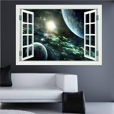 huge 3d space window wall art sticker decal amazon uk kitchen home on removable wall art stickers uk with huge 3d space window wall art sticker decal amazon uk kitchen