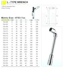 End Wrench Size Chart Socket Wrench Clearance Chart Ashiyarc Co