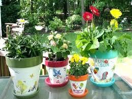 clay pot decoration ideas painting flower pots beauty centerpiece