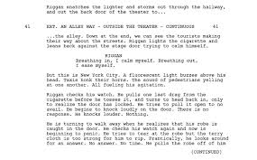 Movie Script Example 4 Examples Of Good Visual Writing In A Movie Script Lights Film School