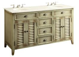 60 Cottage look Abbeville Double Sink Bathroom Vanity Model CF88324