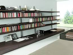 large wall mounted bookcase