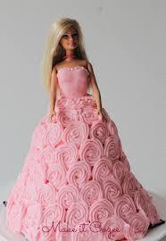 Barbie Doll Birthday Cake Princess With Name Tutorial Decoration 13