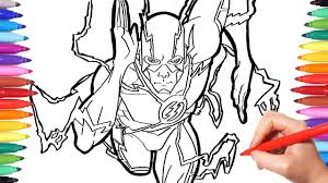 Superheroes Coloring Pages Watch How To Draw Flash The Flash