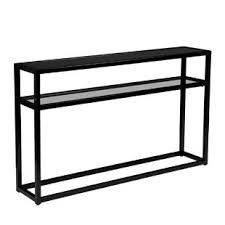 Black console table Long Swanage Console Table Joss Main Black Console Sofa Tables Joss Main