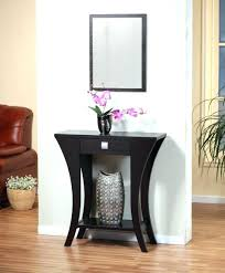 small entry table. Full Size Of Narrow Mirrored Console Table Small Entry Fascinating Cappuccino Finish Sofa With Magnificent Inspiration