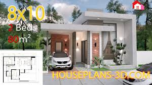 Home Design With Roof Terrace House Design 8x10 With 2 Bedrooms Terrace Roof