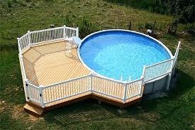 above ground round pool with deck. Brilliant Ground Ground Deck Designs Above Round Pool With More Awesome   Intended Above Ground Round Pool With Deck R