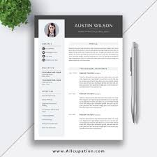 2019 Highest Rated Resume Template With Cover Letter And References Template For Instant Download For Ms Office Word The Austin Resume