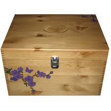 rustic pine extra large personalised decorative boxes