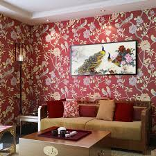 Red Wallpaper Designs For Living Room Online Buy Wholesale Red Textured Wallpaper From China Red