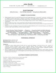 Sample Resume For Electrician New Residential Electrician Resume Sample Resume Of Electrician