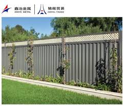 corrugated metal fence. Exellent Fence Corrugated Metal Fence Panelspost Cross Railcolorbound Panels In Corrugated Metal Fence