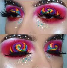 make up crazy rainbow ideas new year photo
