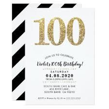 celebration invite 100th birthday party invite modern gold glitter birthday