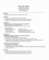 Mechanical Engineering Resume Template Engineering Student Resume For Internship Bkperennials