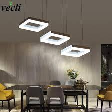 array fashion rectangle ring pendant lamp led dining room suspendu lamp restaurant living room
