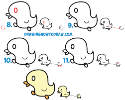 learn how to draw cute kawaii baby ducks cartoon ducklings in simple steps drawing lesson try our new book