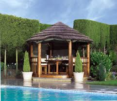 garden hut. Alternatively, Why Not Gain A Touch Of Healthy Living And Evoke Thoughts Tropical Climes, By Purchasing Stunning Beach Hut For Your Garden. Garden