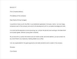 Thank You Letter For Telephone Interview Thank You Letter After Job Offer Example Word Form Email