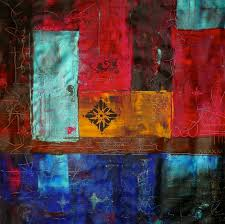 laura carter artwork patchwork ii colourful contemporary abstract art original painting acrylic abstract art