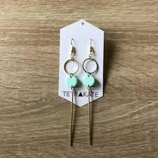 Emerald Tear Drop Earrings from Francesca's Gently used ...