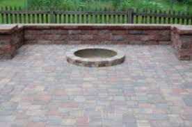 install date may 2010 pavers patio fire area sitting walls with columns willow creeck cobble