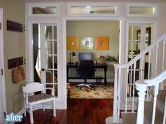 french doors for home office. great idea turned unused dining room into beautiful home office love those french doors for a