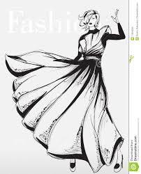 Fashion Girl Beautiful Young Woman Posing In Dress Stock Vector