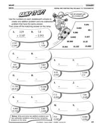 Results for adding and subtracting decimals worksheets | Guest ...Math Worksheet: adding and subtracting decimals to the thousandths