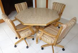 dining room sets with rolling chairs coffeetreestudio intended for kitchen table chairs with wheels