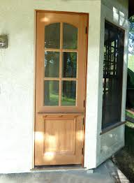 dutch door because you choose your wood and finishes and even how much glass you would dutch door