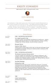 Certified Nursing Assistant Resume Samples Visualcv Resume Samples