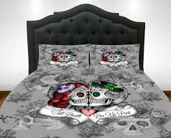 Skull Bedroom Decor Skull Duvet Cover Etsy