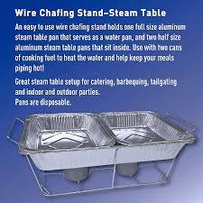 Aluminum Pan Sizes Chart Daily Chef Aluminum Foil Steam Table Pans Half Size 36ct