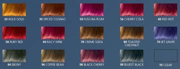 Hair Rinse Color Chart Red Wine Hair Color Chart