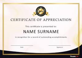 If you were awarded your degree by the. 30 Free Certificate Of Appreciation Templates And Letters