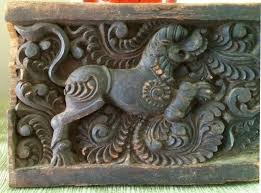 antique asian hand carved wood foo dog panel antique chinoiserie architectural salvage wood wall decor india rare  on asian carved wood wall art with antique asian hand carved wood foo dog panel antique chinoiserie