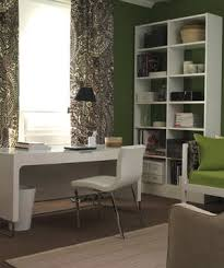 office room ideas for home. green and white room with desk in front of window office ideas for home