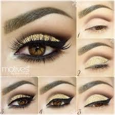 gold lid with black wings eye makeup tutorialsbrown