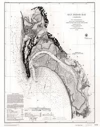Historical Nautical Chart Cp920c Nautical Chart Of San Diego Bay