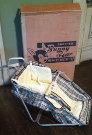 Vintage 1950 Bunny Bear Car Baby Convertible Auto Bassinet Seat Original  Box OLD