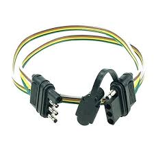 4 wire flat tow trailer hitch wiring harness way connector for 4 wire flat pin plug connector trailer wiring harness extension inch for led tailgate light bar 4 wire flat